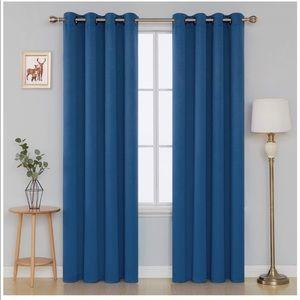 Blackout Curtains 52W x 84L Inch Blue Set of 2